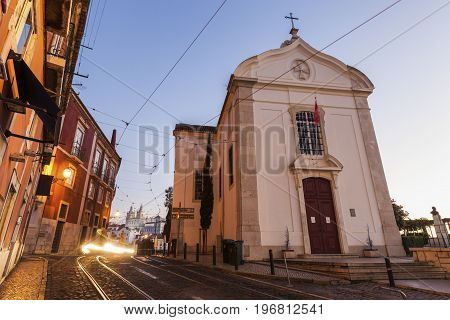 Church of Saint Lucy in Lisbon. Lisbon Portugal.