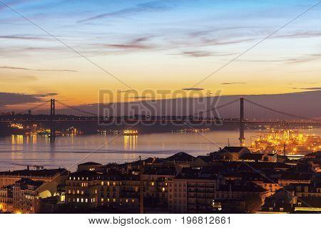 25th of April Bridge in Lisbon. Lisbon Portugal.