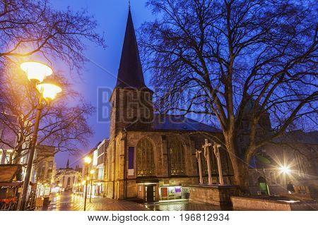 St. Johann Baptist Church in Essen. Essen North Rhine-Westphalia Germany.