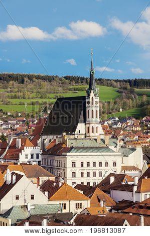 Beautiful Cesky Krumlov. Cesky Krumlov South Bohemia Czech Republic.