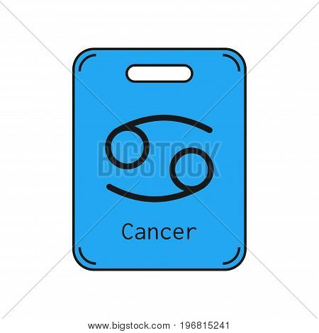 Cancer. Sign of the zodiac. Flat symbol horoscope and predictions. Vector object for design