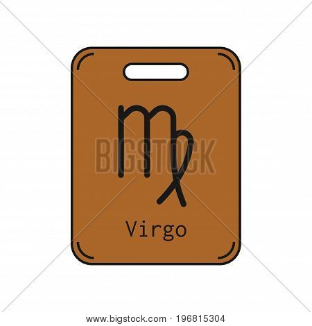 Virgo. Sign of the zodiac. Flat symbol horoscope and predictions. Vector object for design