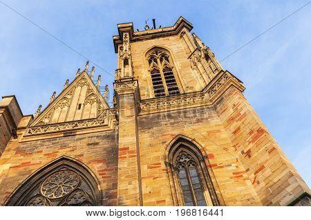 St Martin's Church in Colmar Colmar Grand Est France.