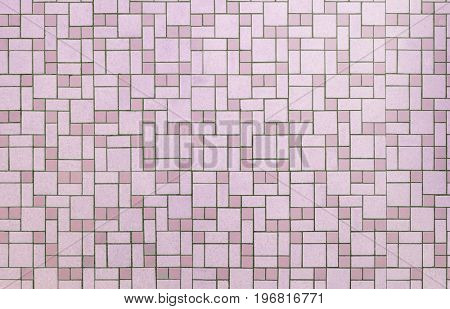 Vintage pink seamless 1950s bathroom tile background