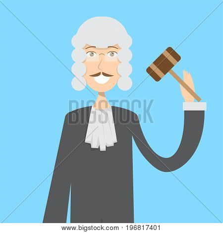 Judge Character Male | set of vector character illustration use for human, profession, business, marketing and much more.The set can be used for several purposes like: websites, print templates, presentation templates, and promotional materials.