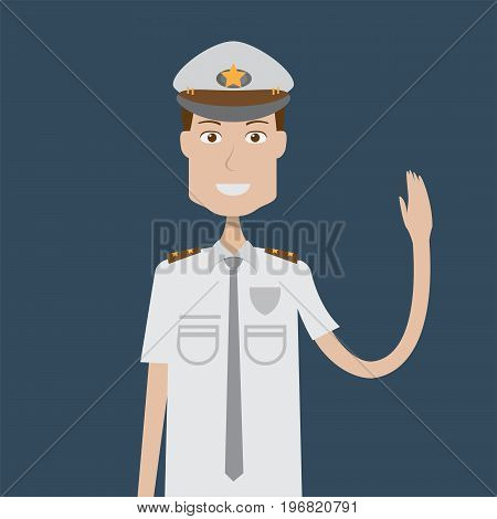 Policeman Character | set of vector character illustration use for human, profession, business, marketing and much more.The set can be used for several purposes like: websites, print templates, presentation templates, and promotional materials.