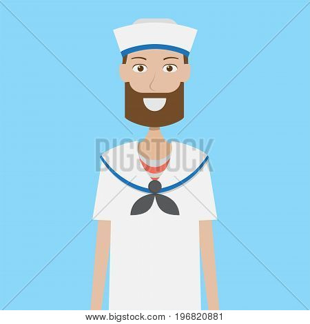 Sailor Character Male | set of vector character illustration use for human, profession, business, marketing and much more.The set can be used for several purposes like: websites, print templates, presentation templates, and promotional materials.