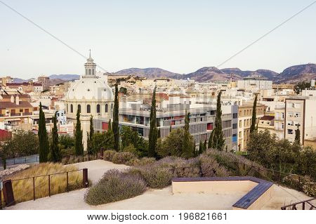 Basilica of the Charity in Cartagena. Cartagena Murcia Spain. poster