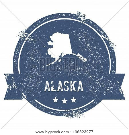 Alaska Mark. Travel Rubber Stamp With The Name And Map Of Alaska, Vector Illustration. Can Be Used A