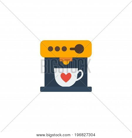 Flat Icon Espresso Dispenser Element. Vector Illustration Of Flat Icon Coffeemaker Isolated On Clean Background