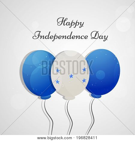 illustration of balloons in Honduras flag background with Happy Independence day background on the occasion of Honduras Independence Day