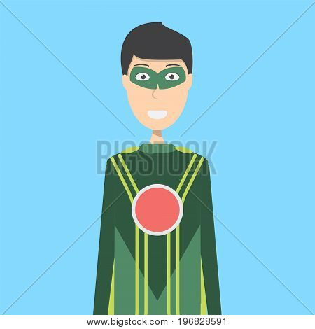 Superhero Character Male | set of vector character illustration use for human, profession, business, marketing and much more.The set can be used for several purposes like: websites, print templates, presentation templates, and promotional materials.