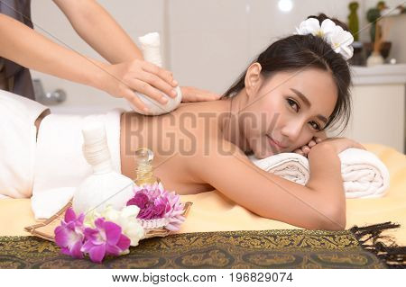 The spa facial and body massage. Women pay attention to health and beauty.