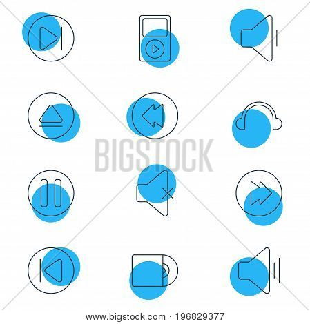 Editable Pack Of Mp3, Advanced, Earphone And Other Elements.  Vector Illustration Of 12 Music Icons.