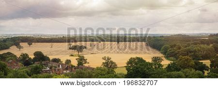 English village and countryside background