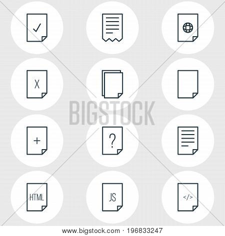 Editable Pack Of Remove, Plus, Internet And Other Elements.  Vector Illustration Of 12 Page Icons.