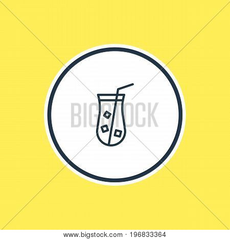 Beautiful Drinks Element Also Can Be Used As Juice Element.  Vector Illustration Of Lemonade Outline.