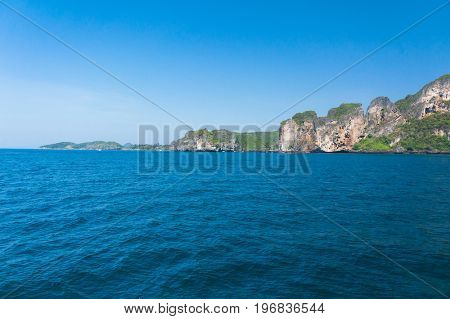 Blue Seascape Tranquil Bay
