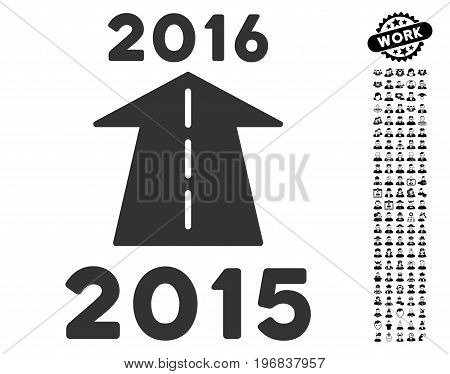 2016 Future Road icon with black bonus people images. 2016