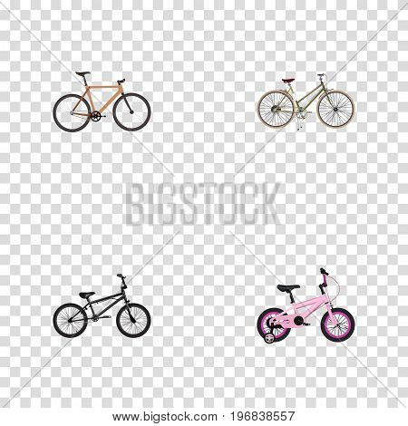 Realistic Extreme Biking, Timbered, Childlike And Other Vector Elements
