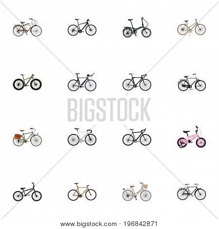 Realistic Childlike, Cyclocross Drive, For Girl And Other Vector Elements