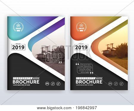 Multipurpose modern corporate business flyer layout design. Suitable for flyer, brochure, book cover and annual report. 8.5x11 inches document layout template background with bleeds.