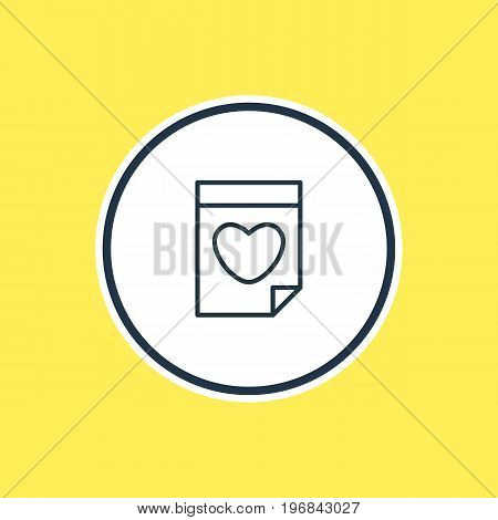 Beautiful Love Element Also Can Be Used As Valentine  Element.  Vector Illustration Of Date Outline.