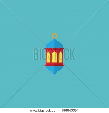 Flat Icon Lantern Element. Vector Illustration Of Flat Icon Islamic Lamp Isolated On Clean Background