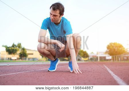 Running Sportsman Feeling Exhausted After Competition