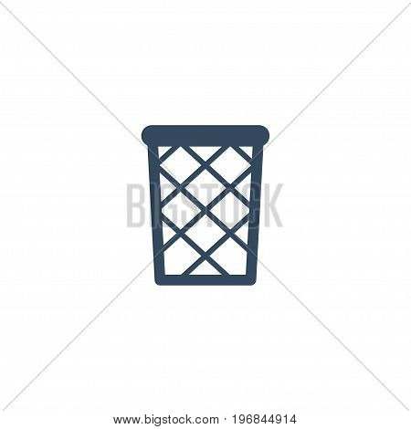 Flat Icon Wastebasket Element. Vector Illustration Of Flat Icon Trash Basket Isolated On Clean Background