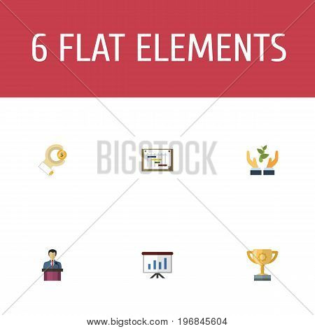 Flat Icons Help, Schedule, Coin And Other Vector Elements