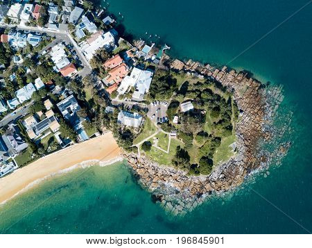 Aerial view of Laings Point, Watsons Bay, Sydney