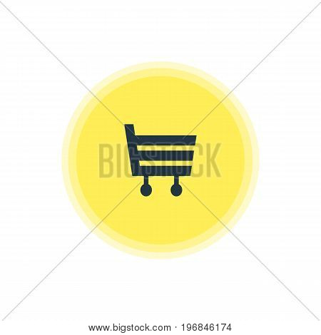 Beautiful Location Element Also Can Be Used As Shopping Cart Element.  Vector Illustration Of Market Icon.