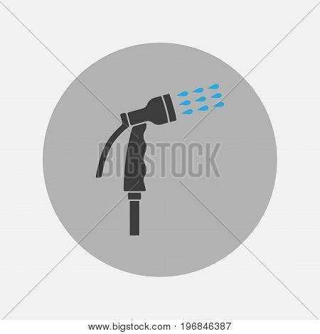 Spray gun icon. Watering equipment. Vector sign for web graphics.