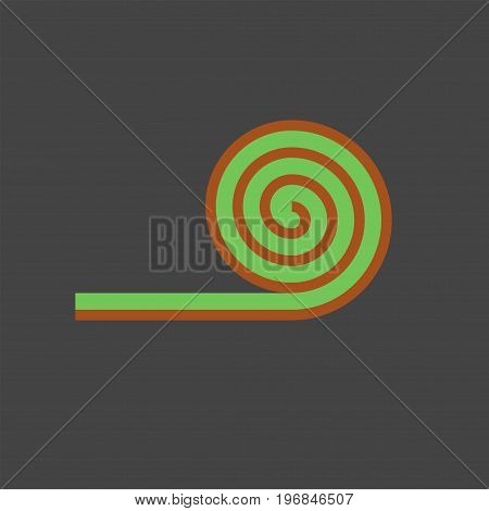 Roll lawn flat icon. Vector sign for web graphics.