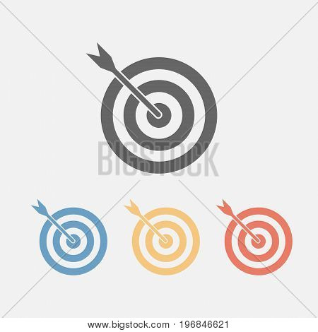 Target icon. Vector sign for web graphics.
