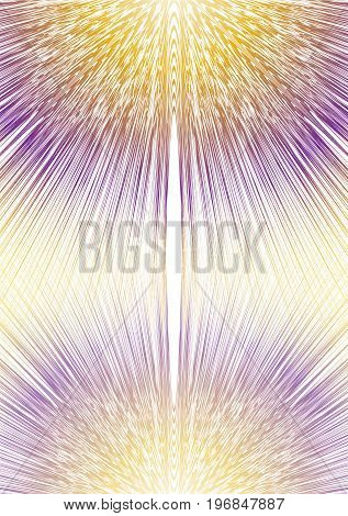 Blurry ray shape in mirror composition yellow and purple design overlay background for cover textbook placard flyer poster bill vector eps10
