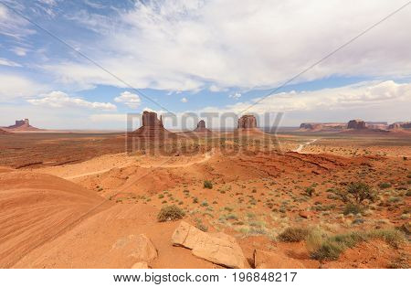 Monument Valley in Arizona. United States of America