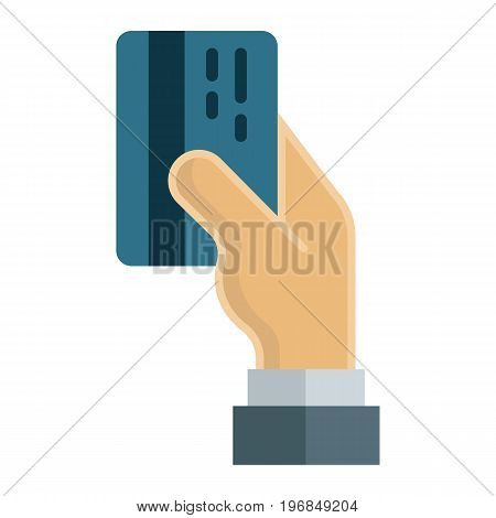 Credit card payment flat icon, business and finance, banking sign vector graphics, a colorful solid pattern on a white background, eps 10.