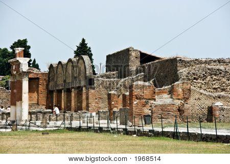 Ruins Of Pompey After Eruption Of A Volcano Of Vesuvius