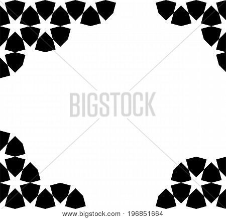 Black moroccan zellige mosaic template. vector illustration