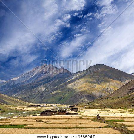 Dho Tarap Village, Dolpo, Nepa