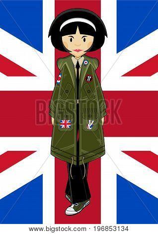 Mod Girl & Union Jack