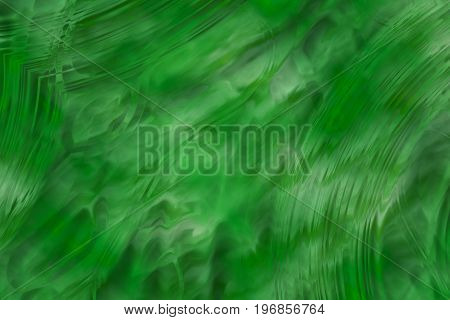 abstract background in green with nice brushed asymmetric pattern