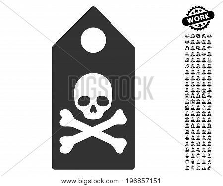 Death Mark icon with black bonus professional clip art. Death Mark vector illustration style is a flat gray iconic symbol for web design, app user interfaces.