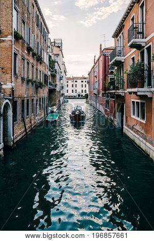 ahead, architecture, beautiful, boat, building, canal, city, cityscape, coming, dark, dusk, europe, european, evening, famous, heading, historic, holiday, italian, italy, landmark, movement, moving, old, one, peaceful, people, quiet, rent, rental, romanti