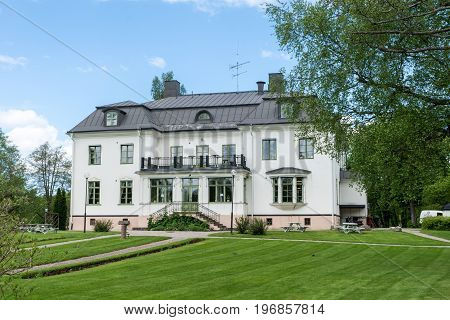 The new mansion at Hogbo bruk in Sweden on a beautiful summer aftenoon