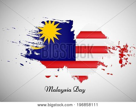 illustration of Malaysia flag background with Malaysia Day text on the occasion of Malaysia Independence Day
