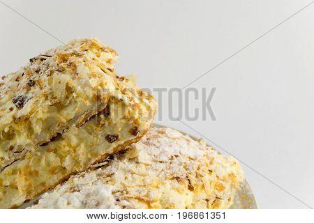 Napoleon Cake Isolated On White