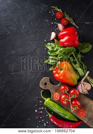 Vegetables. Fresh vegetables. Colorful vegetables background. Healthy vegetable studio photo.